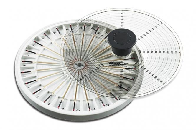 Hettich Haematokrit 200 haematokrit rotor and reader