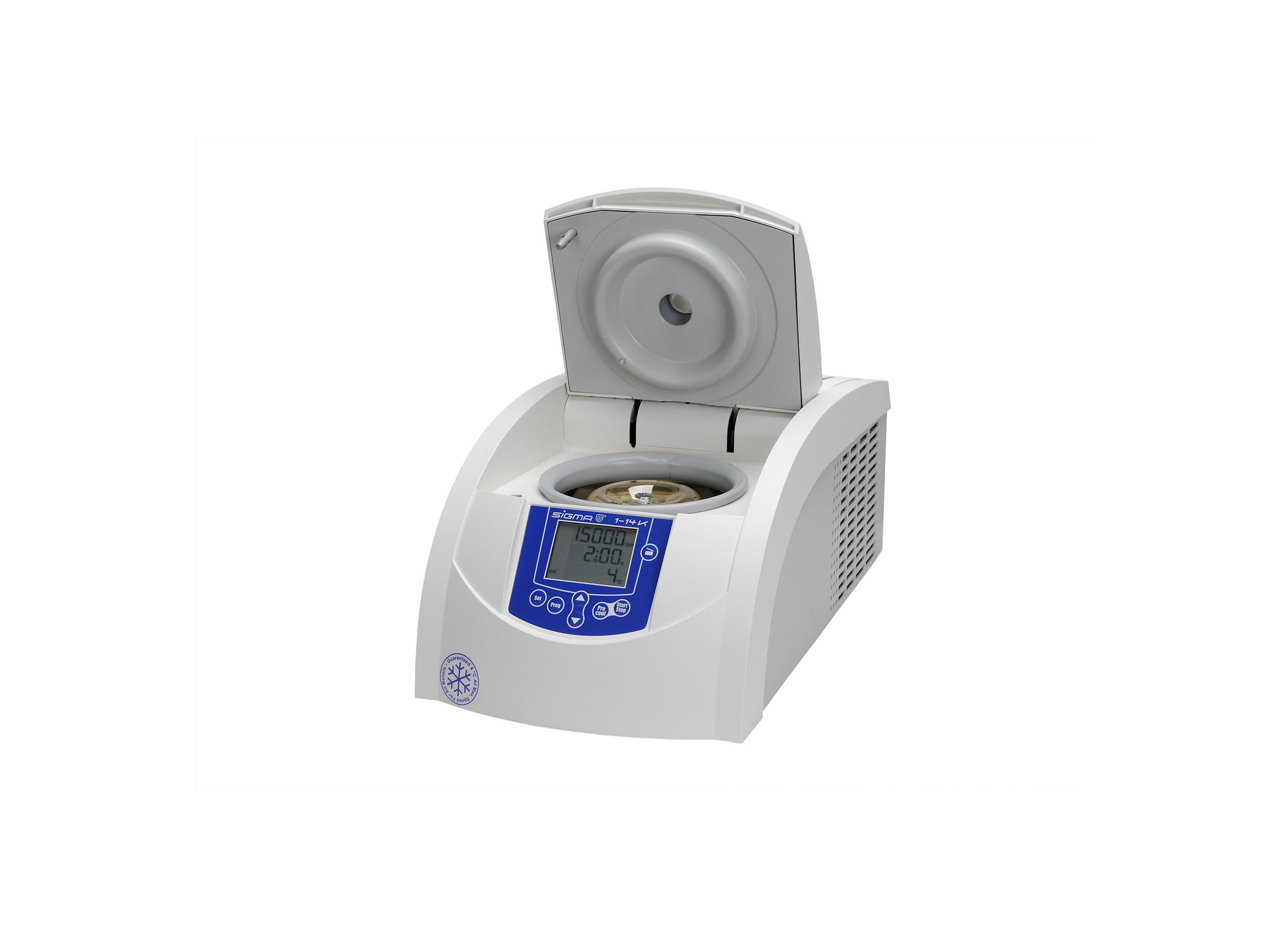 Sigma 1-14k centrifuge open lid