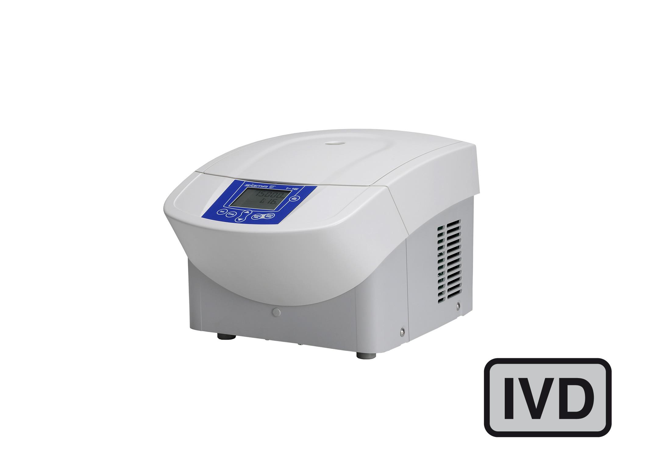 Sigma 1-16 centrifuge closed lid